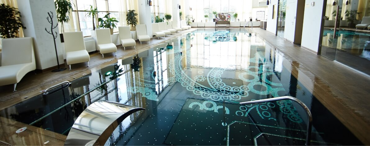 The gorgeous pool of a hotel