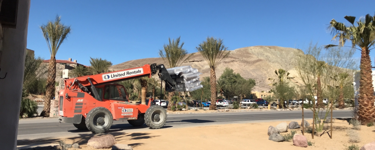 Construction begins at the beautiful Oasis at Death Valley