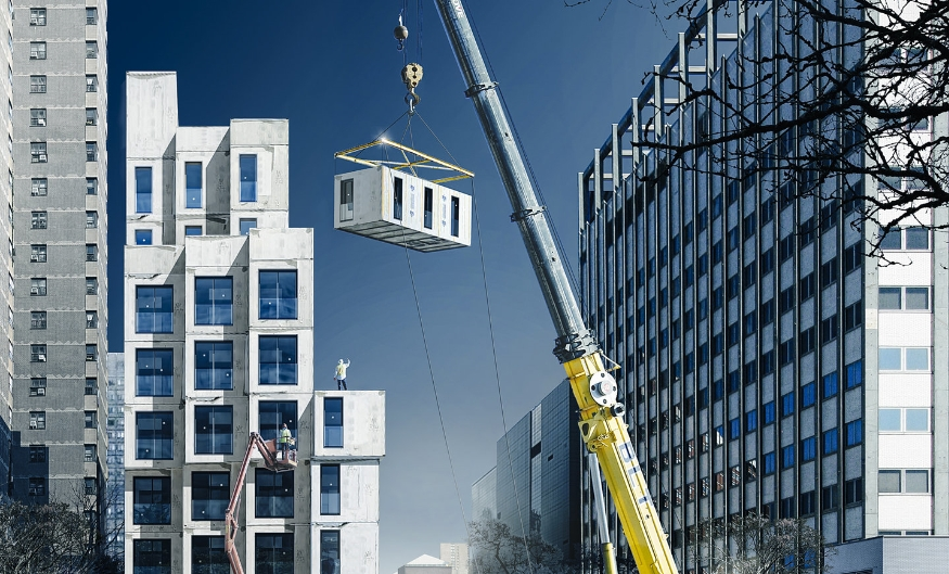 A Building Being Constructed With Modular Elements